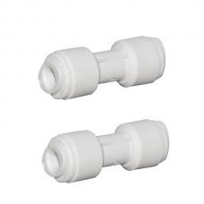 2x 1/4 Pushfit x 1/4 Push Fit Straight Connectors AccessoriesHBQA-006A