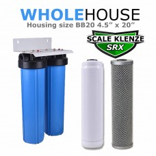 Whole House Double Water Filter & Salt Free Water Softener