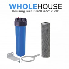 Whole House Water Filtration System  BB20 With Silverised Carbon Block