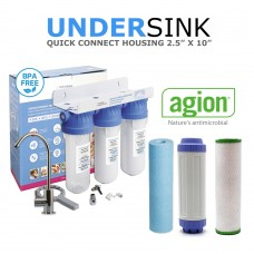 Alkaline Enhanced Ultra Filtration With Triple Deluxe Water Filtration System  Bad Taste & OdoursSL10-1ABSED-AC-UFCCBDirect Water Filters