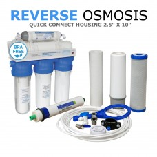 5 Stage Non-Pumped Reverse Osmosis System 50/75/100 GPD Koi & Pond FishkeepingWFU-RO5Direct Water Filters