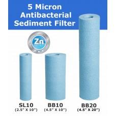 5 Micron Bacteriostatic Polypropylene Spun Sediment Cartridges Standard Water FiltersPS5-PROTECTDirect Water Filters