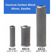 Coconut Carbon Block with Silver Water Filter Cartridge Standard Water FiltersCB5SDirect Water Filters